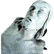 SOLD 19th Century German Folk Art Carving Jesus Crucifix Fragment