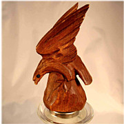 Bottle Stopper Excellent Hand Carved Miniature Eagle ca. 1920