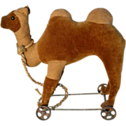 Very Rare  Bactrian Camel ca. 1900 on Cast Iron Wheels