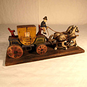 Hand Crafted and Painted Carriage & Horses ca. 1920