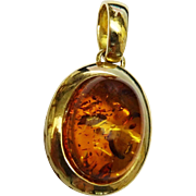 SALE Beautiful Amber Gold Pendant Fine