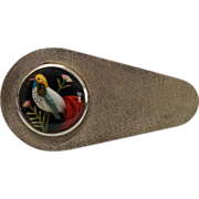 SALE Vintage Bird Feather Sterling Silver Brooch Fine Aesthetic