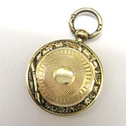 SALE Victorian Rolled Gold Ornate Photo Locket Memorial