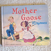 "Vintage Hardbound Book -""Mother Goose Rhymes"""