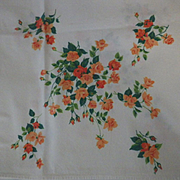 Vintage Wilendure Roses Tablecloth