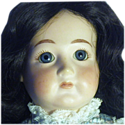 Vintage Bisque & Cloth Artisan Signed Doll