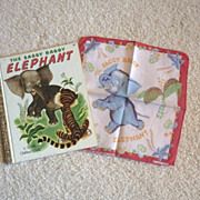 "Vintage ""The Saggy Baggy Elephant"" Book & Handkerchief"