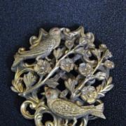 Antique Art Nouveau Birds & Flowers Dress Clip