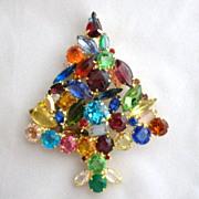 Vintage Juliana Style Large Christmas Tree Brooch