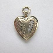 Vintage Signed Gold Fill Heart Locket
