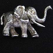 Vintage Signed Hobe Elephant Brooch
