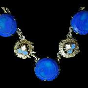 Vintage Glass & Enamel Choker Necklace