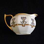 Hand Painted Signed Arts & Crafts/Art Deco Porcelain Pitcher