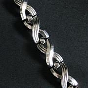 Vintage Signed Trifari Machine Age or Art Deco Bracelet