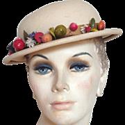Vintage Genuine Panama Ladies Straw Hat
