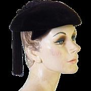 Vintage Women's Velvet Hat Made in France