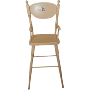 Vintage Painted Wood Doll High Chair