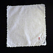 Set of Twenty-One Hand Embroidery Rooster Cocktail Napkins