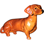 Vintage Signed Beswick Dachshund Dog Figurine