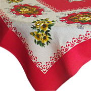 Vintage Linen Rectangular Tablecloth