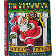 "SPECIAL HOLIDAY PRICE - Vintage Children's Little Golden Book - ""The Night Before Christm"