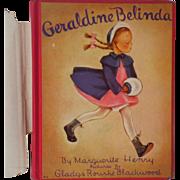 """Vintage Hardbound Children's Book - """"Geraldine Belinda"""""""
