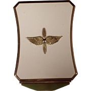 Vintage Military US Army Air Corps Sweetheart Compact