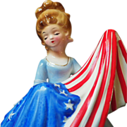Vintage Musical Josef Original Betsy Ross with Flag