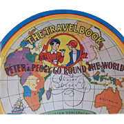 """Rare Vintage Children's Book - """"The Travel Book, Peter & Peggy Go Round The World"""""""