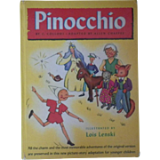 "Vintage Children's Book - ""Pinocchio"""