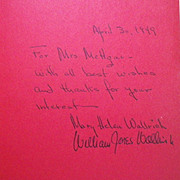 """Rare Vintage Autographed Hardbound Book - """"The Strange Little Man in the Chili-Red Pants"""""""