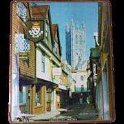 Vintage Canterbury England Decorative Pictorial Tin