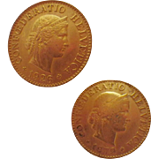 Vintage Genuine Coin Earrings