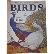 """SOLD Vintage Artist Book - """"How to Draw and Paint Birds"""""""