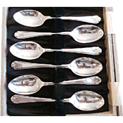 Set of 6 Sterling Silver Demitasse Spoons w/ Golfing Motif