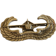 WWII US Army Airborne Glider Assault Pin- Sterling