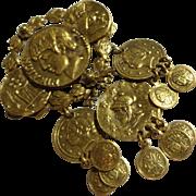 SALE CoroCraft Coro Craft Roman coin pin brooch