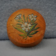 SOLD Small wooden treen round box