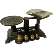 SOLD Toy Cast Iron Balance Scale