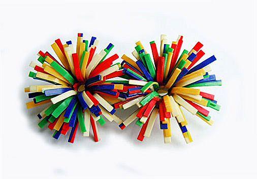 Confetti Color Celluloid Pin
