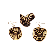 Vintage Novelty Hat Ring and Earrings Set