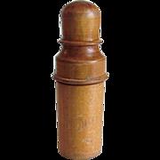 SOLD Treen Ware Needle Holder Victorian