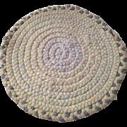 Doll House Cotton Round Braided Rug Circa 1930s