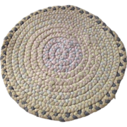 Doll House Cotton Round Braided Rug Circa 1930s