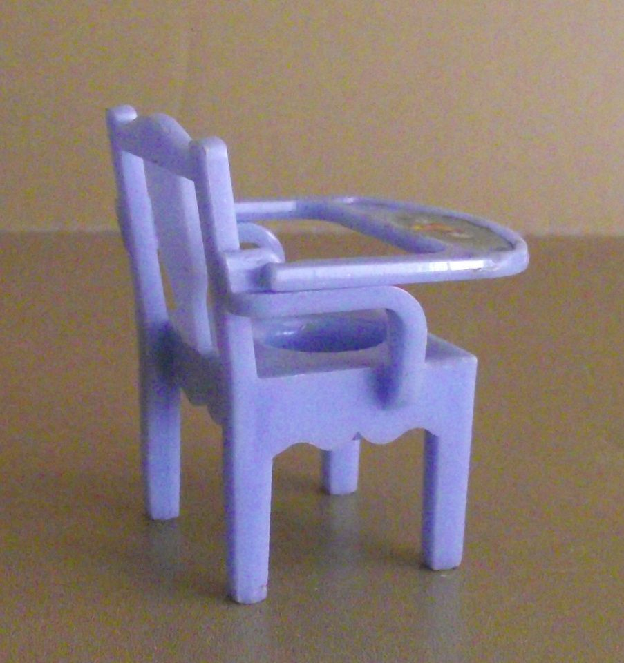 Renwal Doll House Miniature #36 Potty Chair Blue with Deer Decal