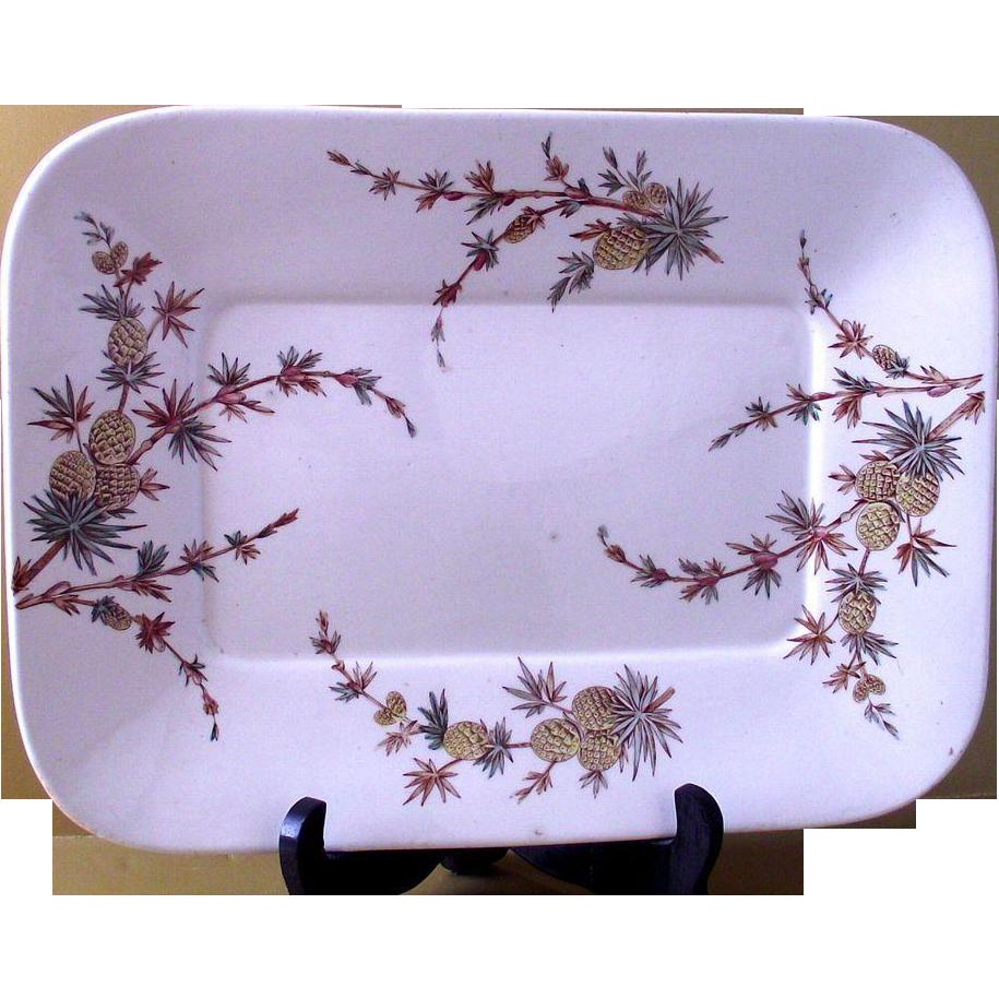 Aesthetic Movement Ridgeway Pineapple Pattern Large Platter