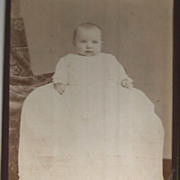 """""""Pudgy"""" Sweet Baby in Very Long Christening Gown Montreal Photo"""