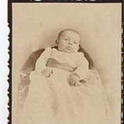 """""""Pudgy"""" Sweet Baby in Long Christening Gown Montreal Photo"""