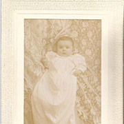 Stowe Vermont Baby in Long Christening Gown Cabinet Card