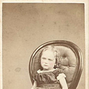 Hand Tinted Real Photo Circa 1850-60s of  Lovely Little Girl